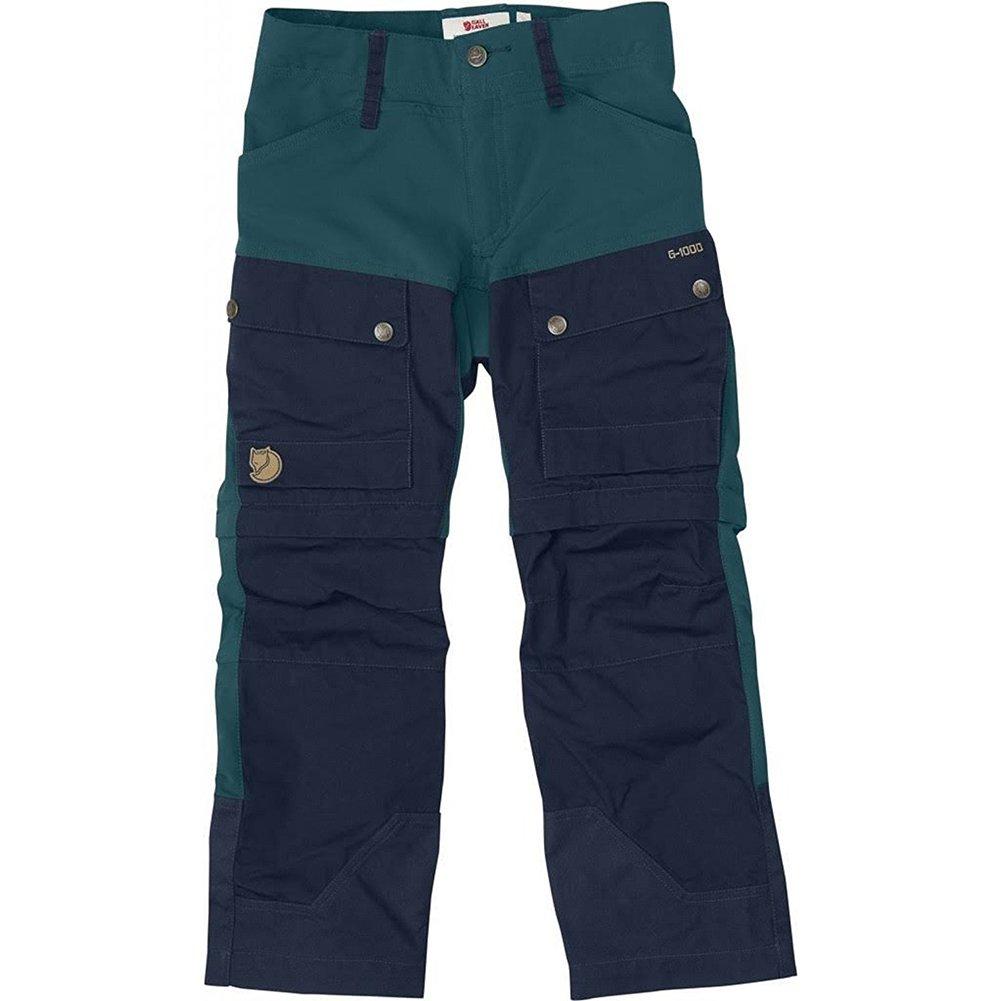 Fjallraven Kids Keb Gaiter Trousers, Glacier Green-Dark Navy, 140