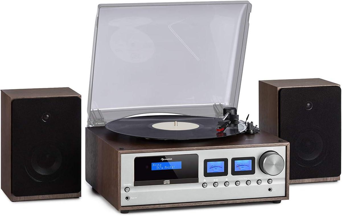 auna Oxford - Equipo de música estéreo con Tocadiscos ...