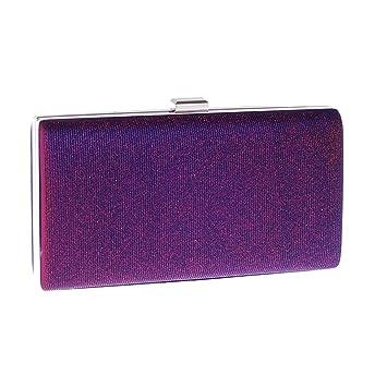 Mindruer Cartera de Mano, Bolso de Noche para Mujer Fiesta Embrague Bolso de Mano rígida Bolso Crossbody (Color : Purple): Amazon.es: Hogar