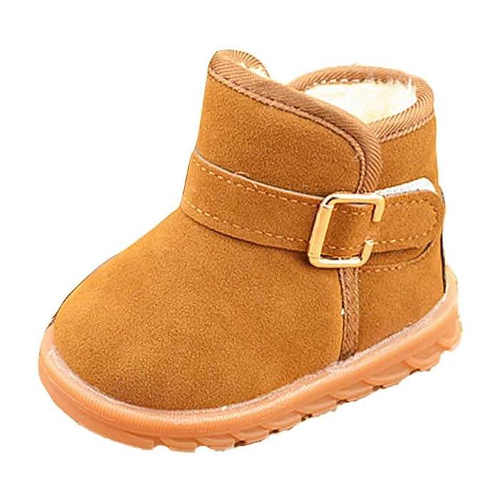 YanHoo Zapatos para niños Botas de Nieve para niños más algodón Antideslizante Moda Invierno bebé Estilo Infantil Bota de algodón Botas de Nieve Caliente ...