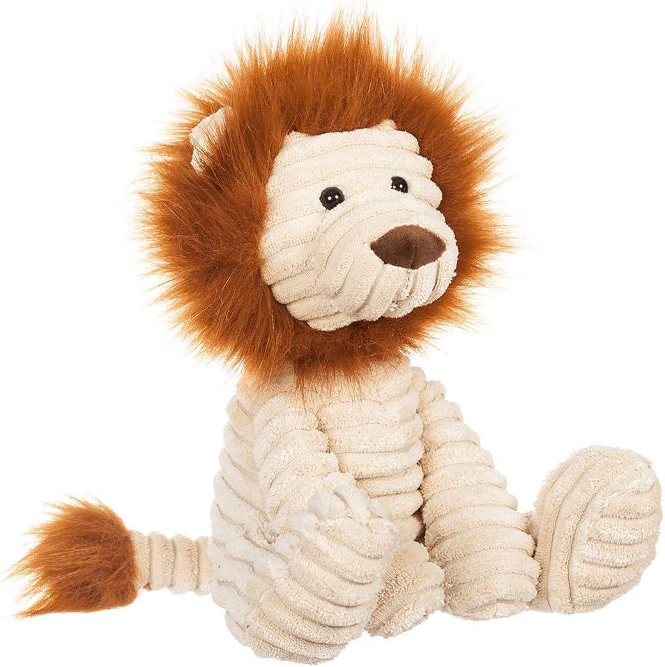 Apricot Lamb Toys Plush Corduroy Lion Stuffed Animal Soft Cuddly Perfect for Child ( Corduroy Lion 8.5 Inches)