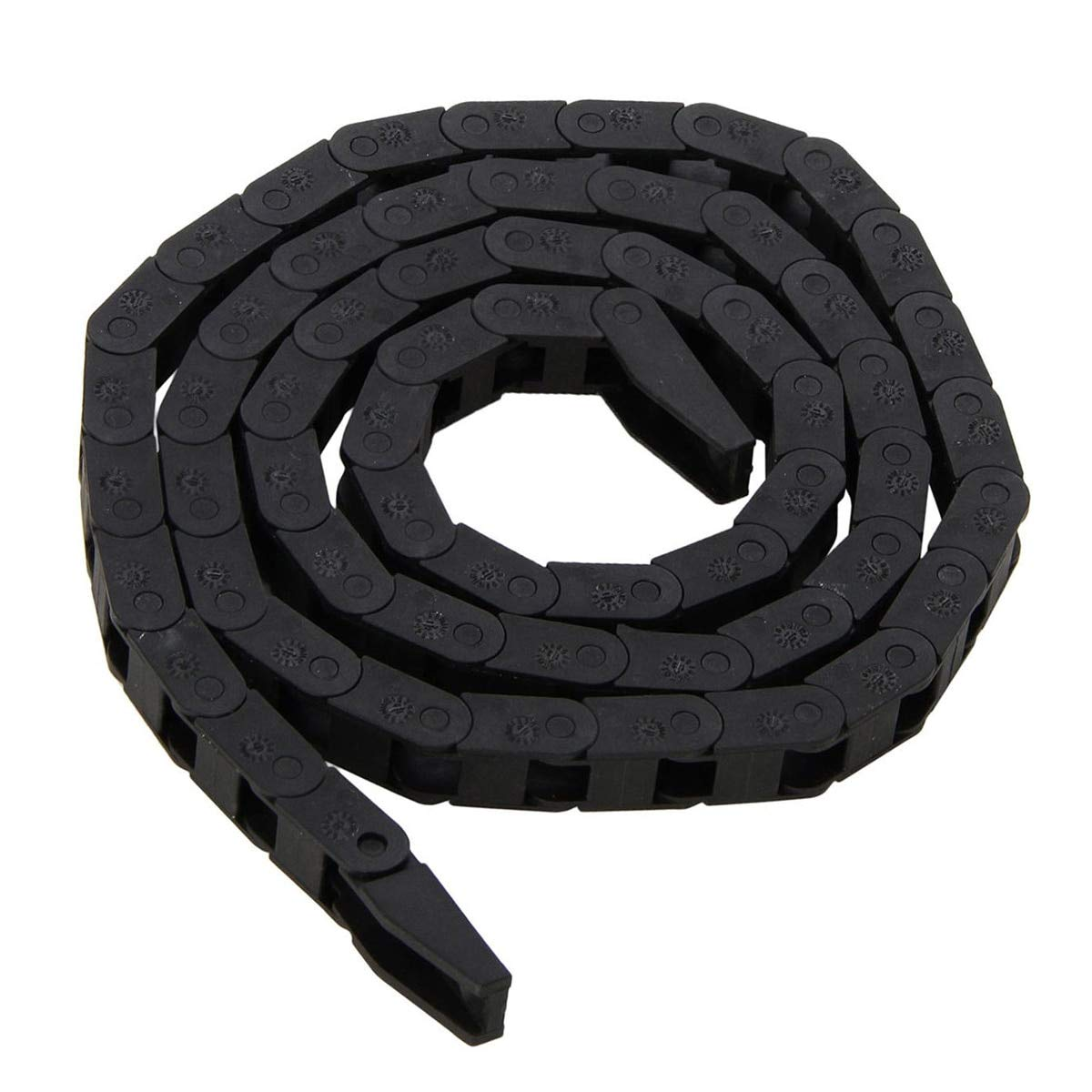 Ochoos 1pc Ochoos Black Plastic Nylon Cable Carrier Drag Chain Nested Towline Wire Carriers 77mm for CNC Machine Tool Water Pipes