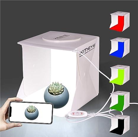 JHS-TECH - Caja de luz LED Plegable para Estudio fotográfico con 6 Colores de Fondo para fotografía, 2 Unidades, 6000 K, diseño de Rayas: Amazon.es: Electrónica