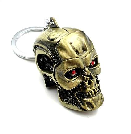 Llavero de metal con Cráneo Terminator