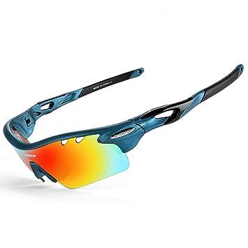 4fe590e8a3 INBIKE Gafas De Sol Polarizadas para Ciclismo con 5 Lentes Intercambiables  UV400 Y Montura De TR