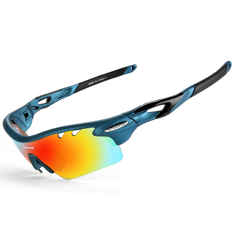 INBIKE Gafas De Sol Polarizadas para Ciclismo con 5 Lentes Intercambiables UV400 Y Montura De TR