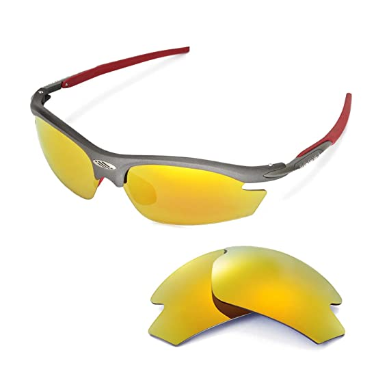 4372148bfb73a Amazon.com  Walleva Replacement Lenses for Rudy Project Rydon Sunglasses -  Multiple Options (24K Gold Mirror Coated - Polarized)  Sports   Outdoors
