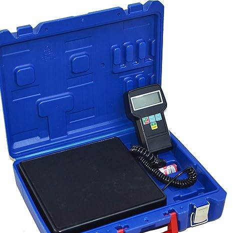 HUKOER Báscula electrónica de carga de refrigerante con Calibración de precisión electrónica, Carga máxima 100