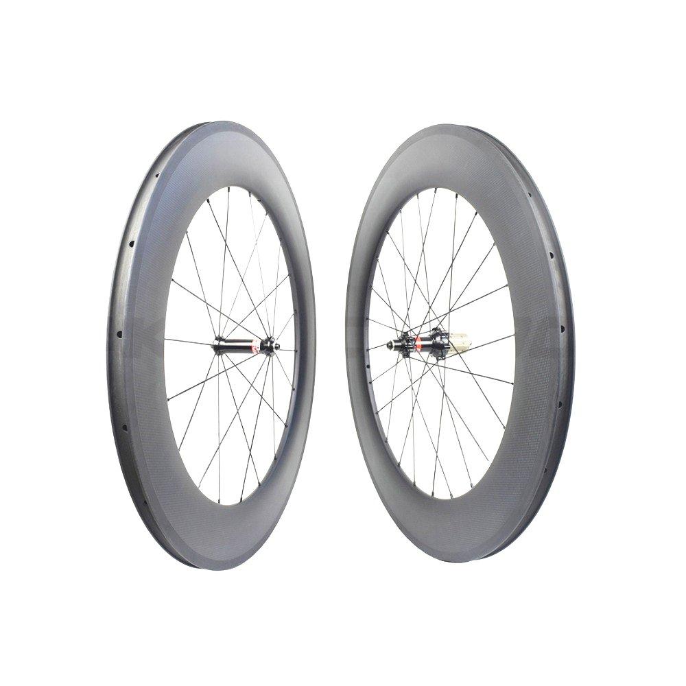 カーボン ホイール チューブレス 3K仕上げ ホイールセット 自転車ホイール ロードレース用 Novatec ハブ(AS511SB/FS522SB)スポーク リム幅25mm リム深50mm 重量は約1515g ERD:538.5mm B07DW5KC7W ハプ 3K光沢ホイールセット 1ペア 3K光沢ホイールセット 1ペア ハプ