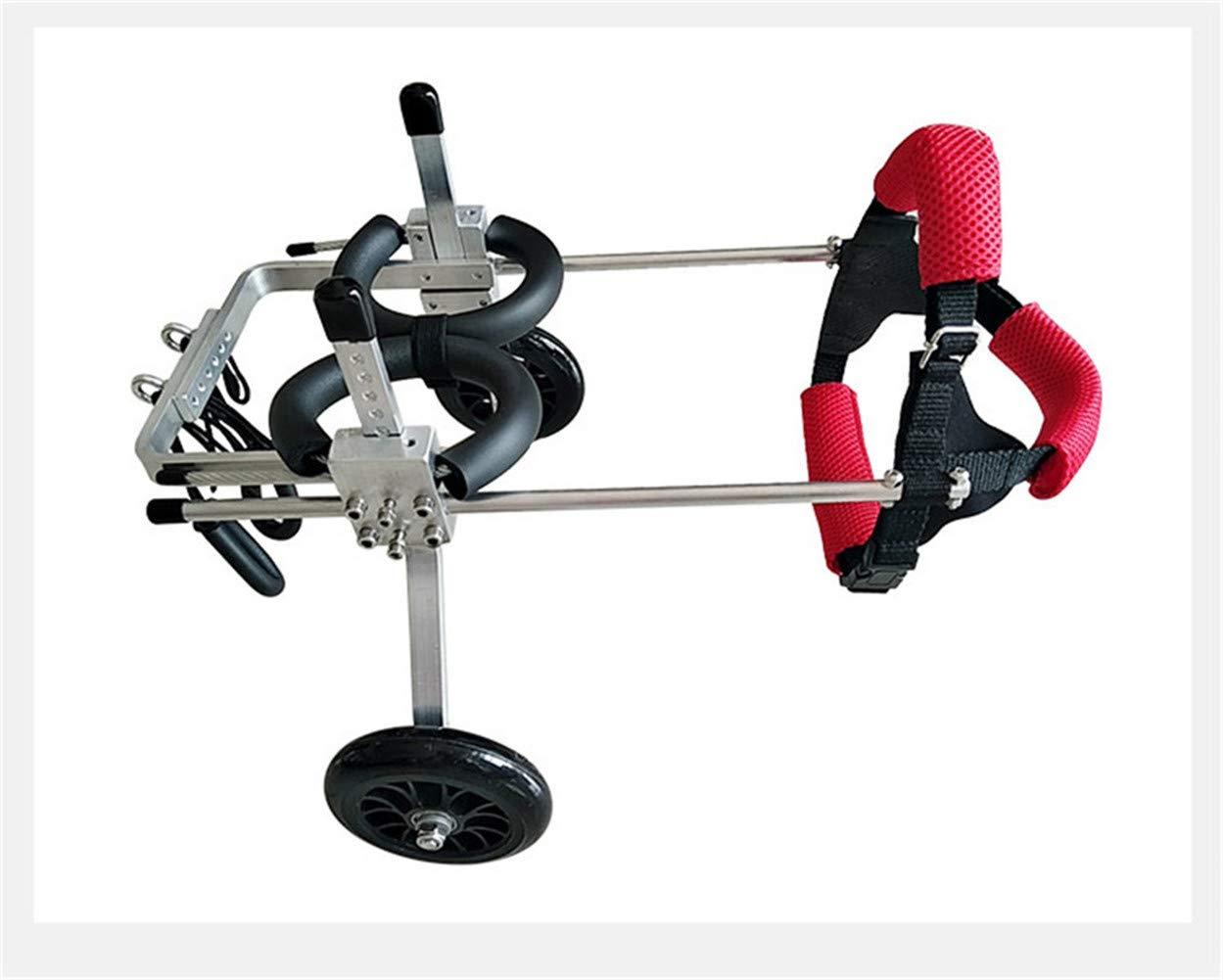 WL Adjustable Dog Wheelchair Hind Legs Rehabilitation 2 Wheels Dog Cart Wheels by WL