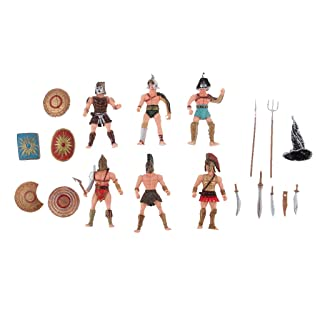 Ancient Roman Gladiator DIY Medieval Warriors Figure Models Playset for Kids