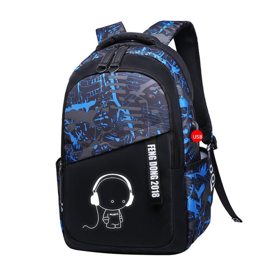 C2 One_Size Kids Large Waterproof School Backpack Boys School Bags Bookbag Schoolbags for Teenagers Male Laptop Backpack Schoolbag C5