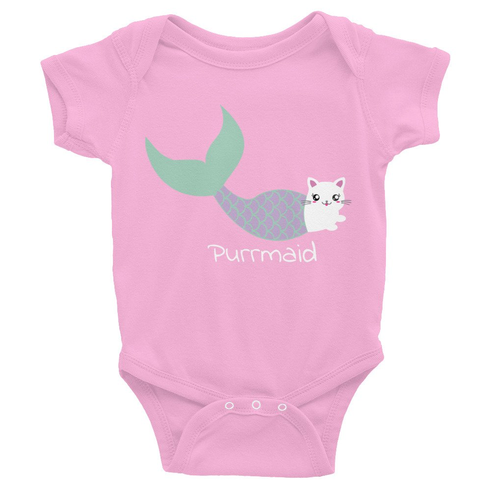 Arkansas Made Purrmaid Mermaid Cat Infant Bodysuit