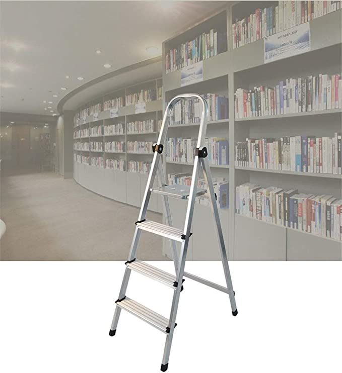 Casa Las obras de construcción del edificio Escaleras de metal estabilizada Escalera Biblioteca de la Escuela de escalera de tijera supermercado Tally Capacidad de carga 330 libras Engrosado: Amazon.es: Bricolaje y herramientas