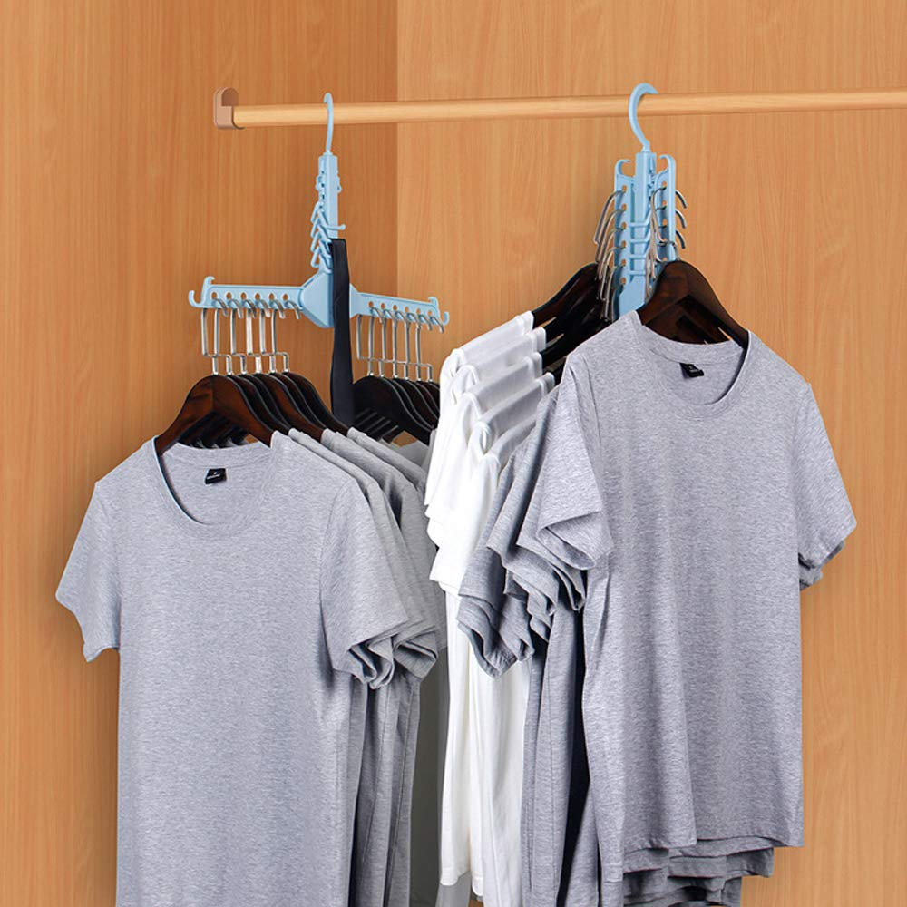 Amazon.com: ONEYUE Perchas mágicas para ropa, perchas ...