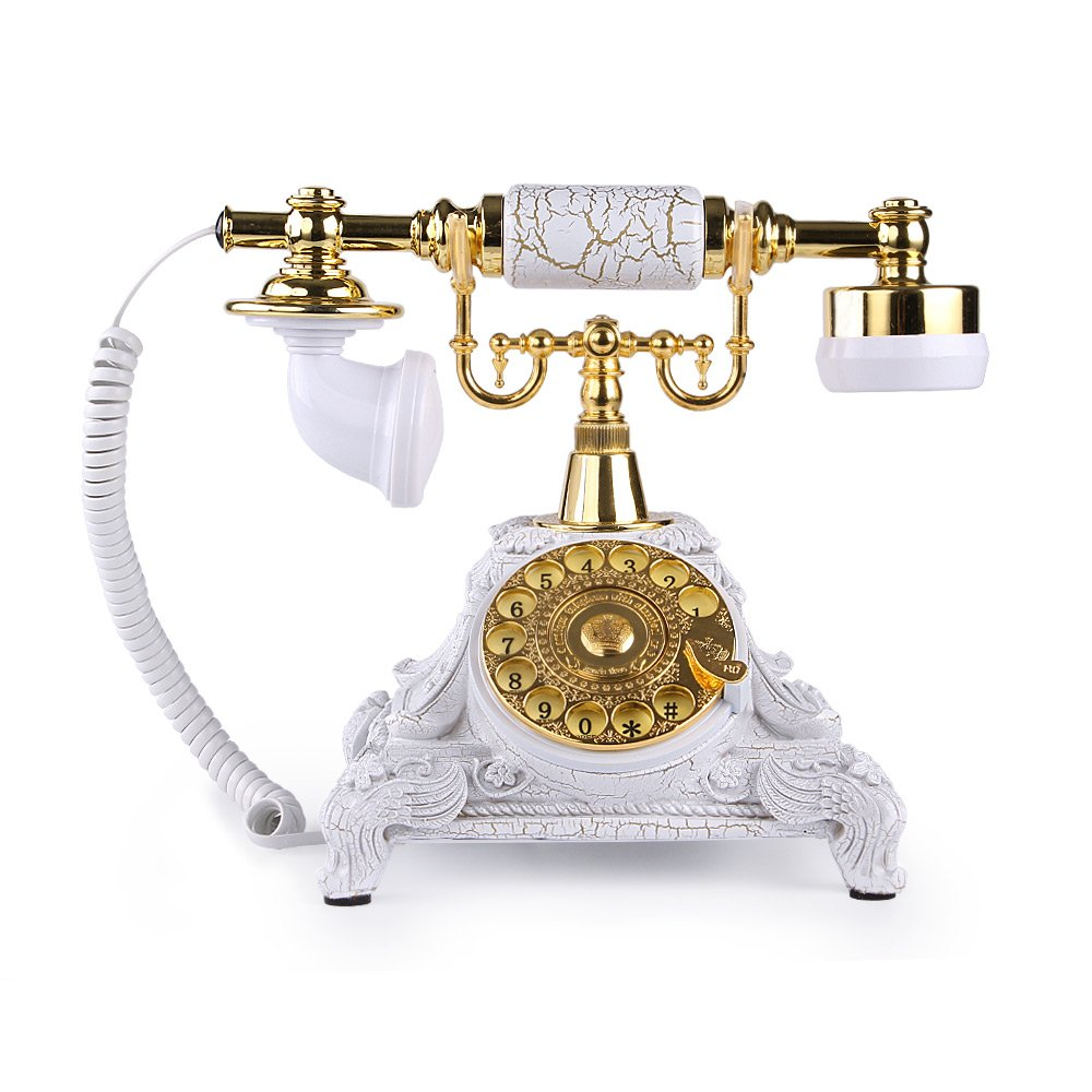 Vintage Antique Style Rotary Dial Desk Telephone Phone