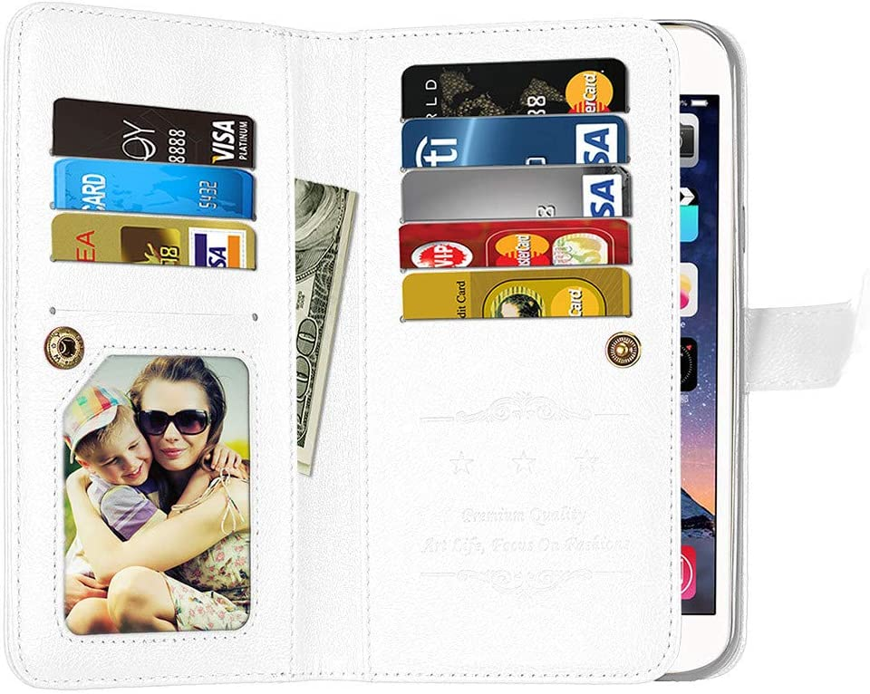 Galaxy S8 Case Black Bear Village/® Soft TPU and PU Leather Flip Case with 9 Card Slot Multifunction Wallet Protective Case for Samsung Galaxy S8