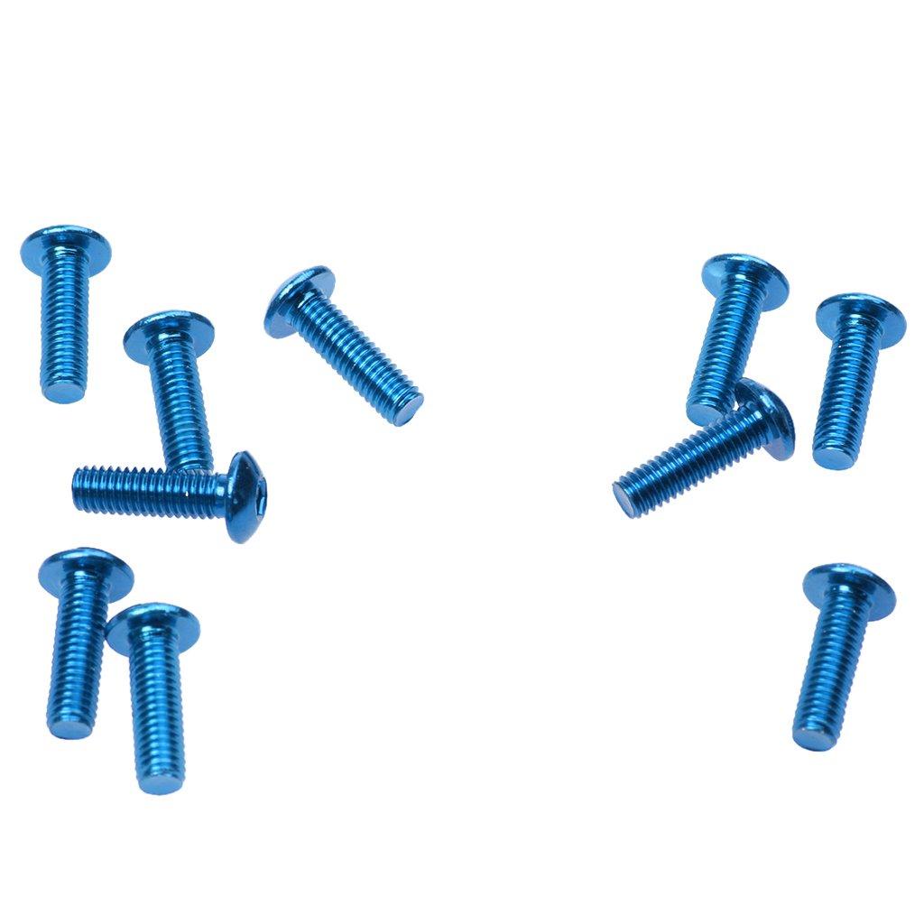 Gazechimp 10 Unids Tornillos de Pernos Met/álicos para Marco de Placa de Peso Ligero y Resistente a Corrosi/ón Repuesto de Moto Autom/óvil Rojo 20x6mm