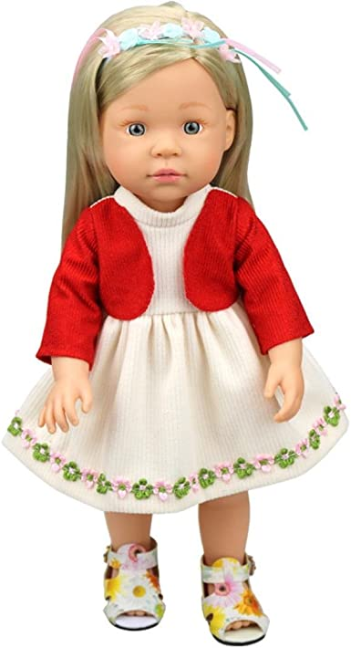 Doll Party Dress Red Fake Coat Dress Clothes For 16 inch AG American Doll Doll