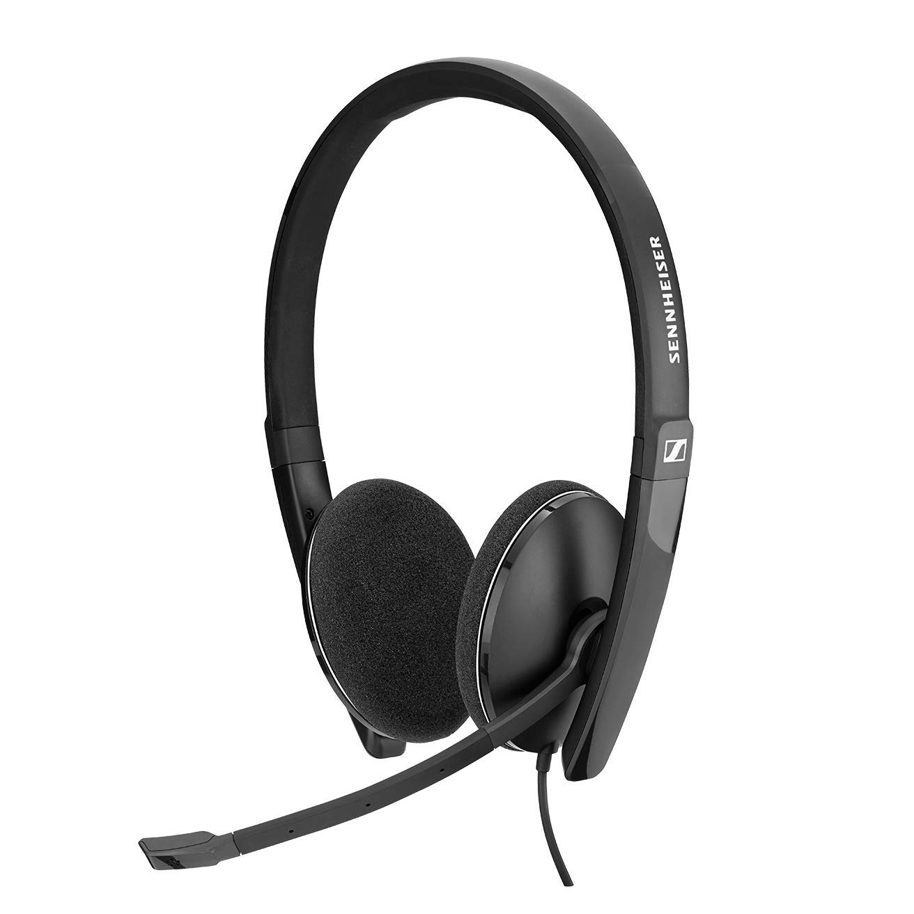 Sennheiser PC 8.2 CHAT, wired headset for casual gaming, e-learning and music, noise cancelling microphone, call control, foldable microphone, high comfort – USB-A connectivity