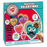 Toys : JOYIN 28 Pack Valentines Day Gifts Cards for Kids with Mustache Stickers, Valentine's Greeting Cards, Valentine Classroom Exchange Party Favor