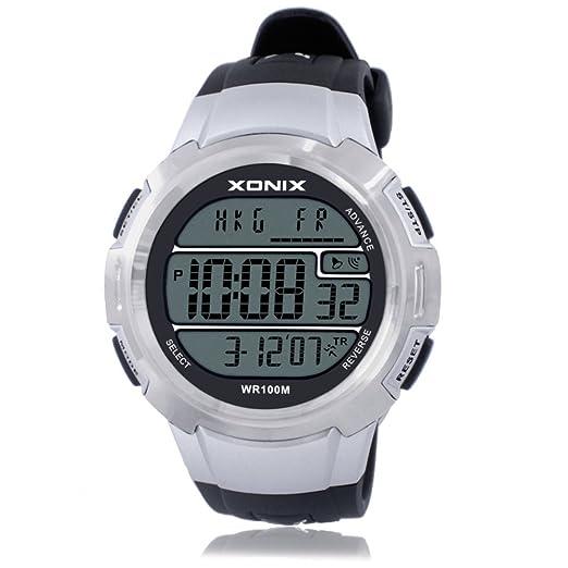 [ambiente elegante]LEDLuminoso multifuncional relojes/Movimiento digital electrónico reloj de men-C: Amazon.es: Relojes