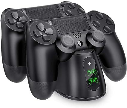 Amazon.com: BEBONCOOL PS4 - Cargador inalámbrico para mando ...