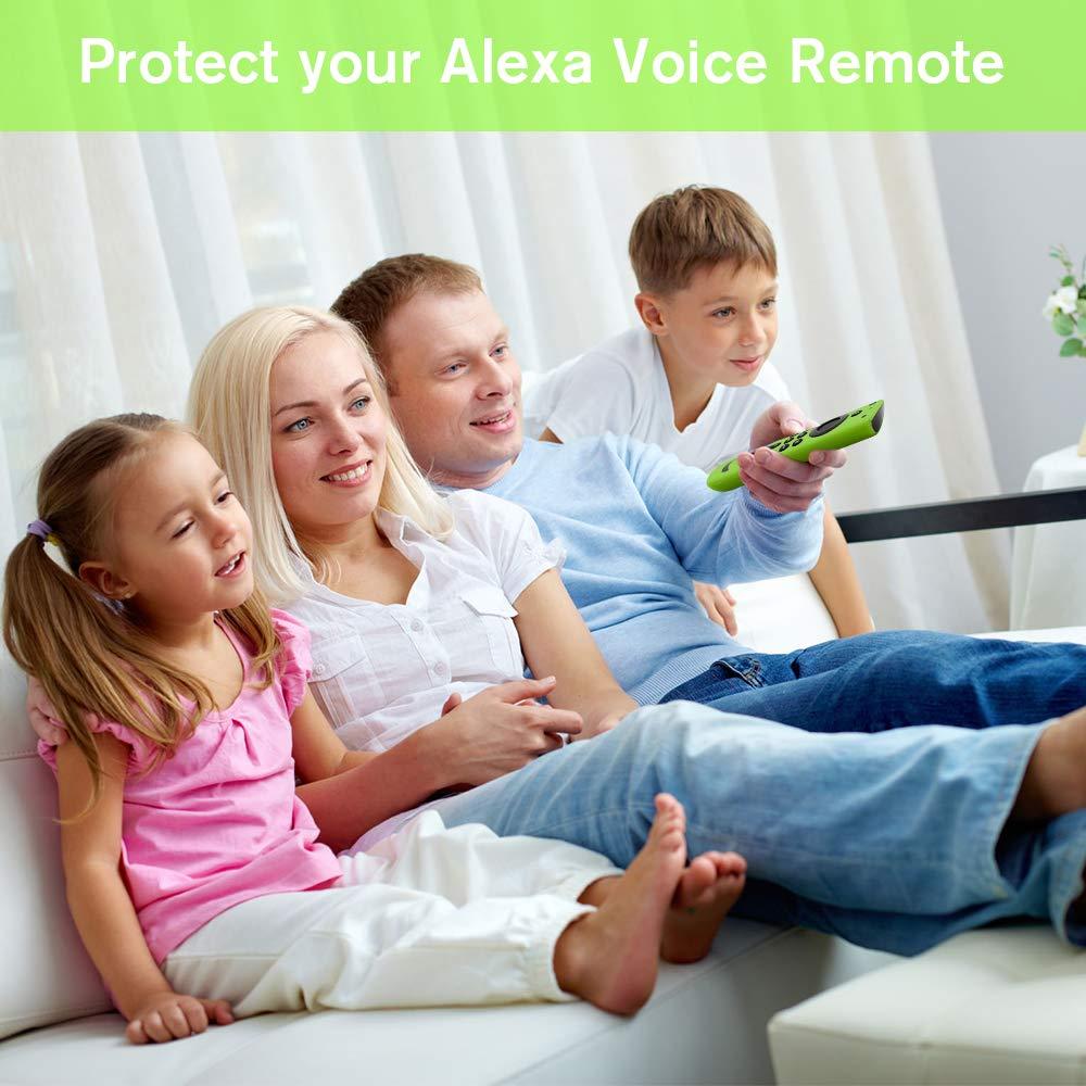 Antid/érapant Antichoc de Remote Case /Étui de Protection pour Fire TV Stick//Fire TV Cube Nightglow Vert Hydream Housse Coque en Silicone pour Fire TV Stick 4K T/él/écommande avec Alexa Voice Remote