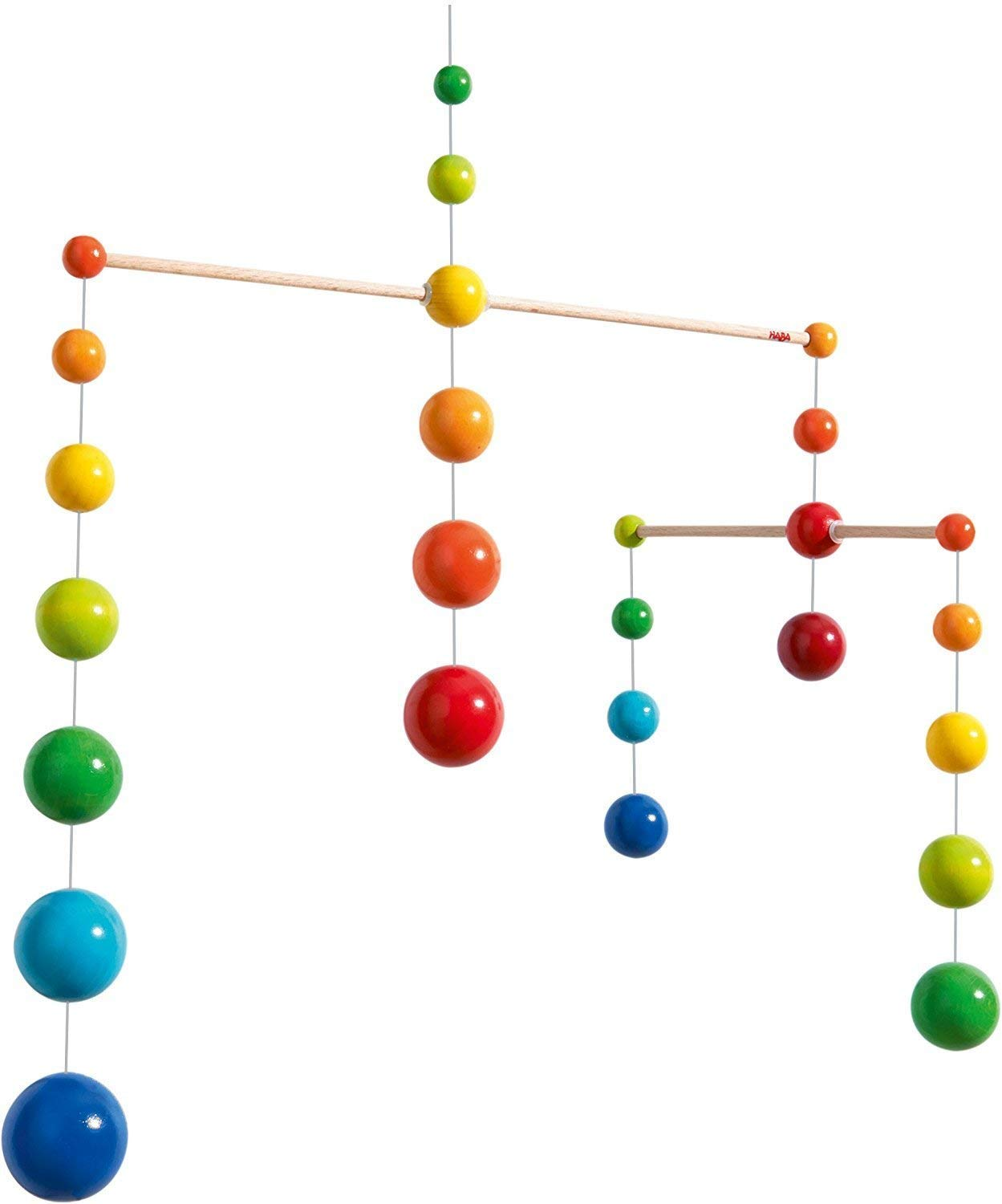 HABA Nursery Room Wooden Mobile Rainbow Balls (Made in Germany) by HABA
