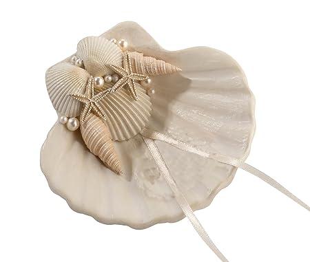 Lillian Rose RA460 4X4 Ivory Seashell Ring Holder Amazoncouk