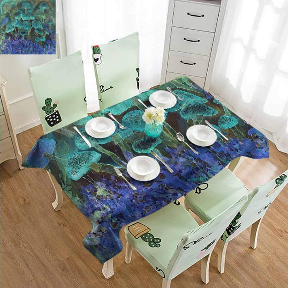 SLLART Party Table Cover Psychedelic,Dreamy Mushroom Figure W60 xL90,for Cards