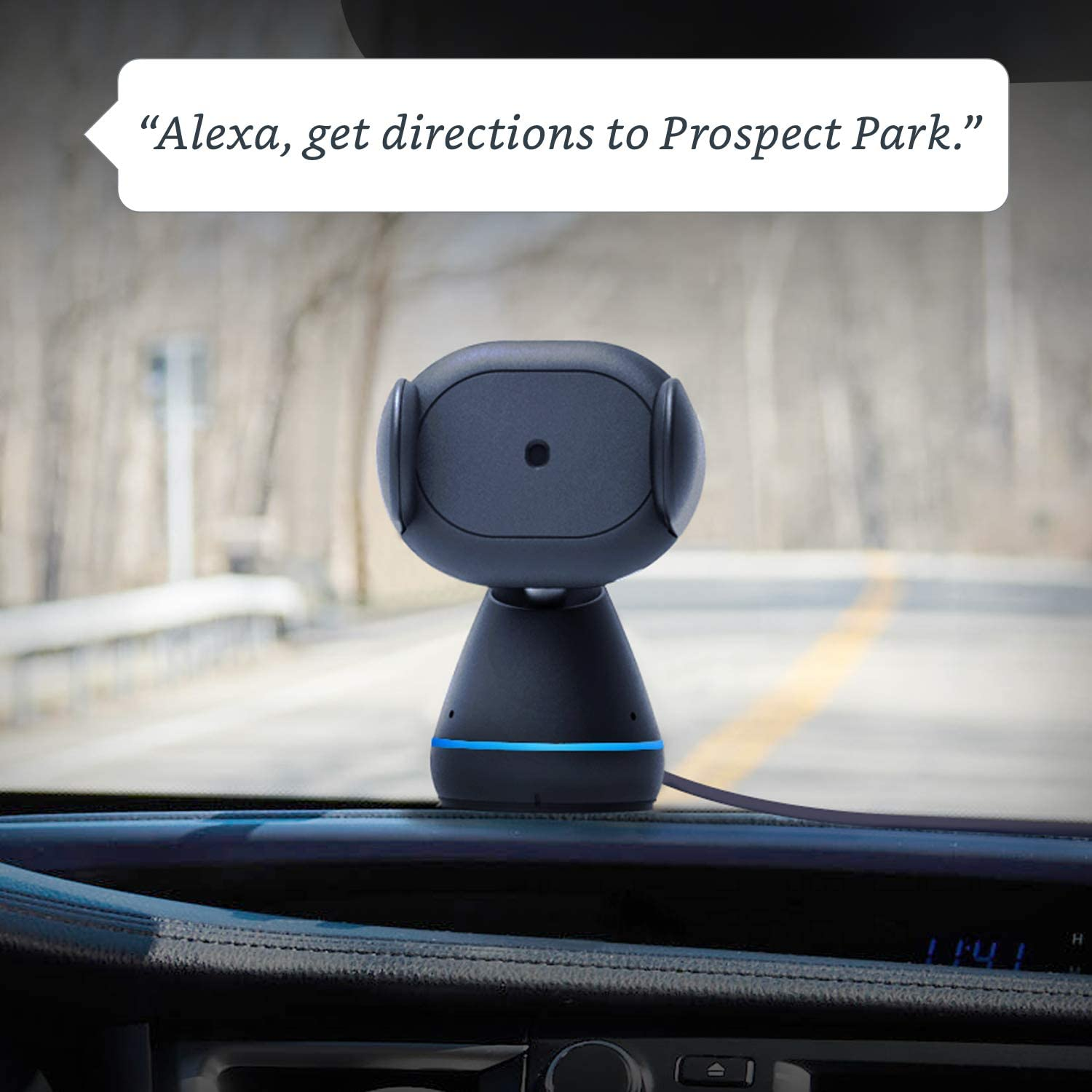Car Mount Phone Holder with Alexa Built in