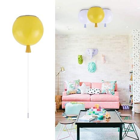 gl kids ceiling light modern diy flush mount pc balloon light rh amazon com baby boy room ceiling light