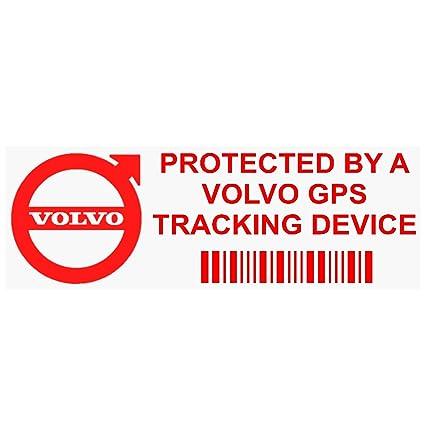 5 x ppvolvogpsred GPS rojo dispositivo de seguimiento de seguridad ventana pegatinas 87 x 30 mm