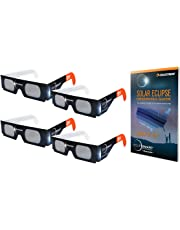 Celestron EclipSmart Solar Shades Observing Kit Includes Four ISO Certified Solar Eclipse Glasses & 2017 Total Solar Eclipse Guidebook