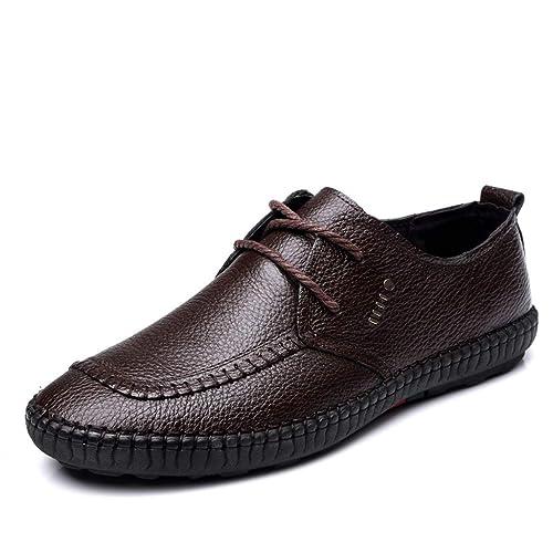 ESAILQ -Zapato Náutico de Piel para Hombre | Zapatos Náuticos Ligeros | Mocasines Cuero | Mocasines Piel Hombre: Amazon.es: Zapatos y complementos