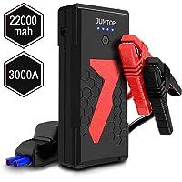 Arrancador Bateria Coche, JUMTOP 22000Mah 3000A Pico Arrancador