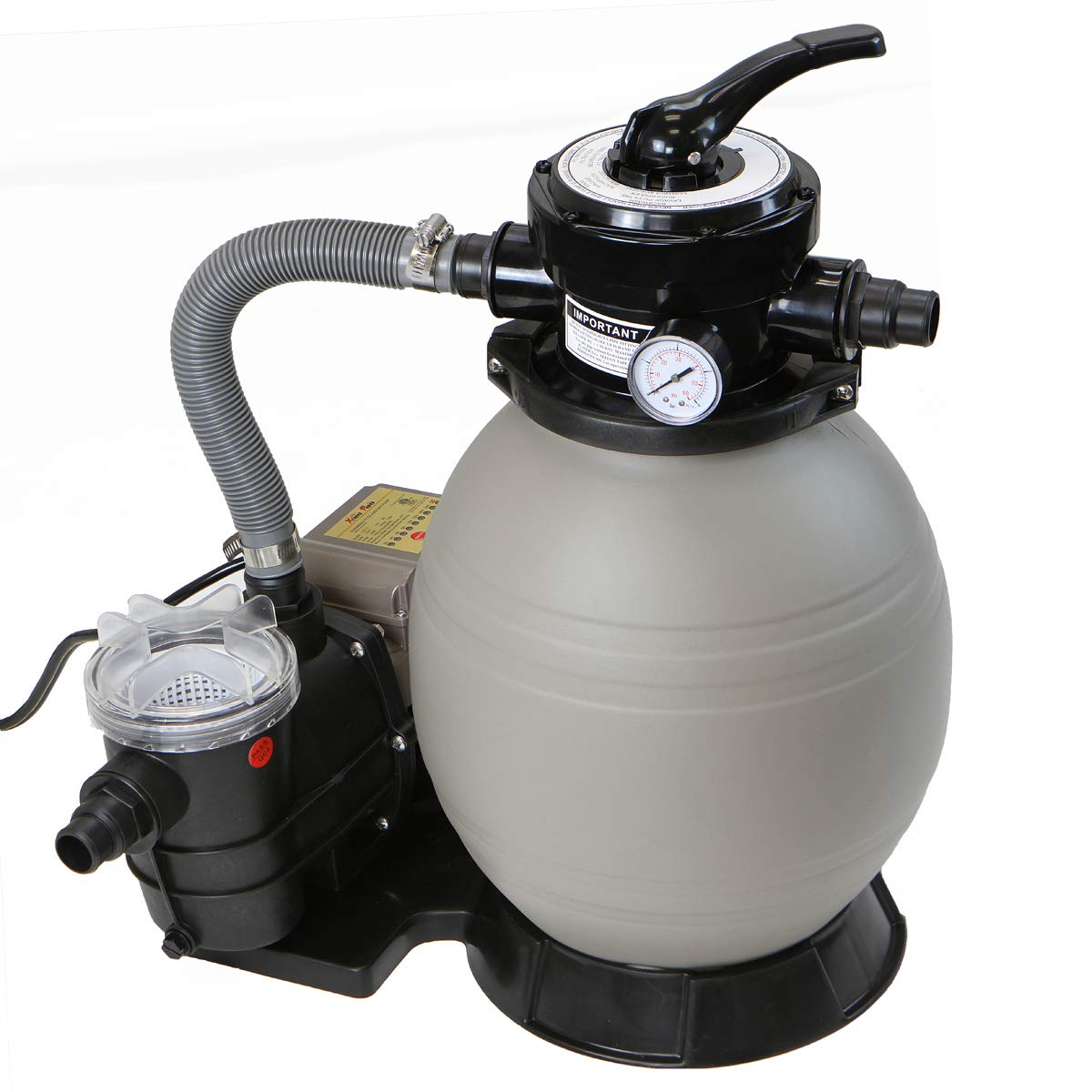 "XtremepowerUS 2640GPH 13"" Sand Filter w/ 3/4HP Digital Programmer Timer Above Ground Swimming Pool Pump Set"