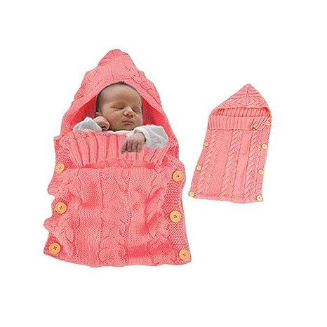 Manta De Bebé Saco De Dormir De Bebé De Ganchillo Unisexo Recién Nacido Ligero, Suave