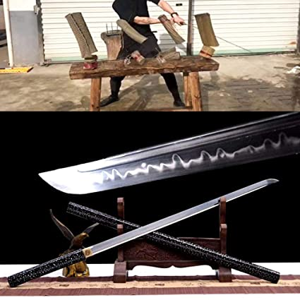 Amazon.com : Battle Ready Japanese Samurai Straight Sword ...