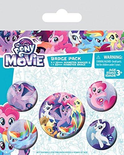 1art1 My Little Pony - Movie, Sea Ponies, 1 X 38mm & 4 X 25mm Chapas Set De Chapas (15 x 10cm): Amazon.es: Hogar