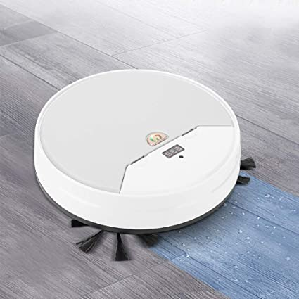 Atyhao Aspirador de Robot de Barrido Inteligente Ultrafino Multifuncional Limpiador de fregona de Piso Limpiador de Suciedad de la Oficina en el hogar Blanco