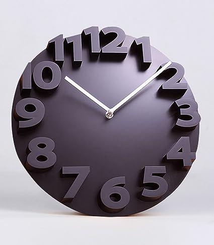 ZHANWEI Moderno minimalista sala de estar creativa 3D estereoscópica Relojes personalidad y relojes, mesa grande