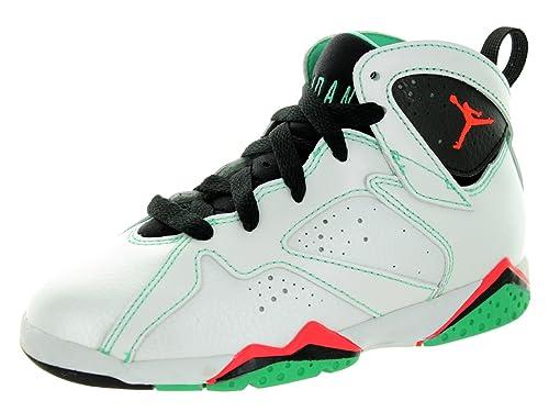 Nike Jordan Kids Jordan 7 Retro Gp White Infrared Black Verde Basketball  Shoe 1c8c90e0f
