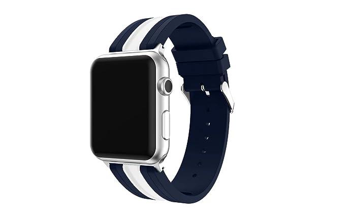 QQ Smart Digital Silicona reloj banda para Apple Watch iWatch serie 3 serie 2 serie 1 suave silicona color empalme deporte correa de muñeca de repuesto de ...
