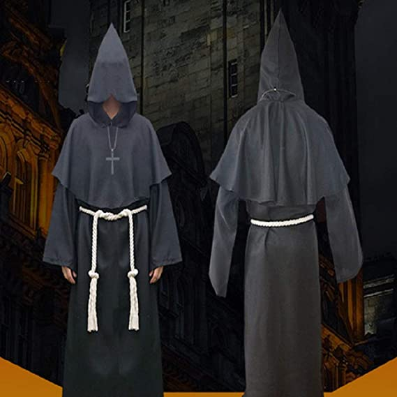 YYCOOL Disfraz de Fraile, Cosplay de Halloween Medieval Monk ...