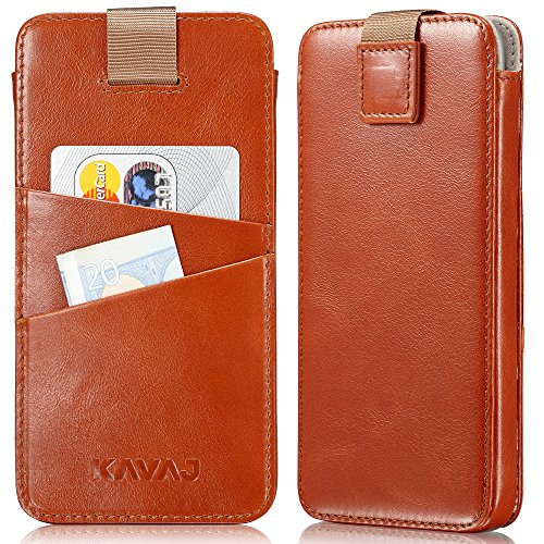 Kavaj iphone x holster case leather miami cognac brown slim fit slim fit iphone x pouch leather holster iphone x wallet case genuine leather case cover with business card holder for apple iphonex buy online in reheart Choice Image
