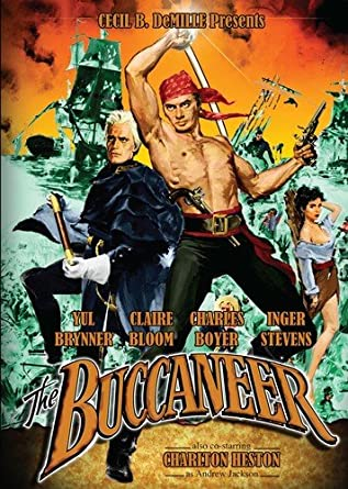 The Buccaneer Yul Brynner vintage movie poster print
