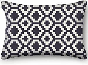 X-Large Geometric Pattern Outdoor Pillow Covers for Bed Sofa Decorative Accent Pillow Case 20 X 26 Inch