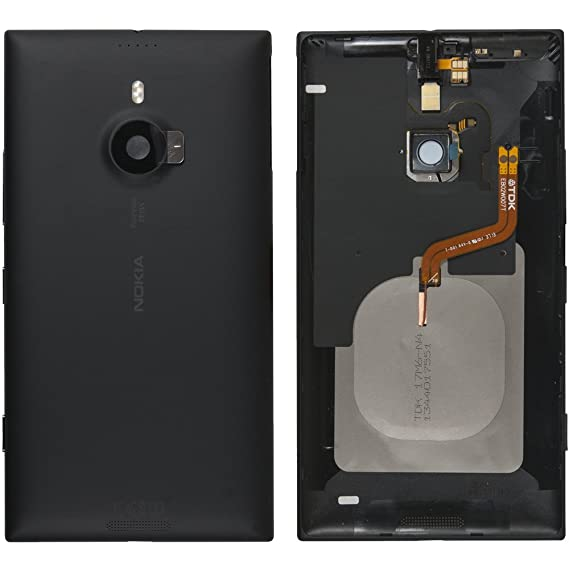 Original Nokia battery cover for Nokia Lumia 1520 - black / black (battery  cover, battery cover, back cover, back cover) - 00810N1 // with LED flash